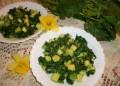 Топла салата с тиквички и спанак. От Ирина Андреева