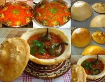 Тестени гювечета с чушки в доматен сос. От Виолета Матева