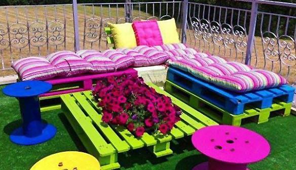 21 идеи за мебели от палети без пари