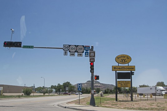 Отново на Route 66 около Tucumcari