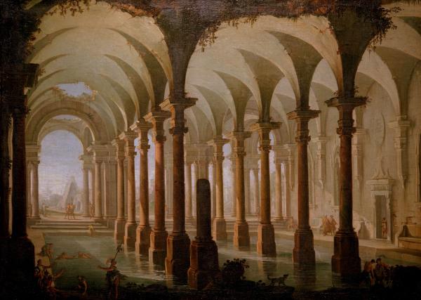 G.P.Pannini, Roemisches Bad - G. P. Pannini / Roman Baths -