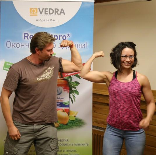 Kalin Vrachanski i Marina Dekova (instruktor i systezatel po bodybuilding)