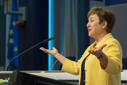 Participation of Kristalina Georgieva in the 2015 award ceremony of the Juvenes Translatores