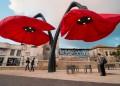Гигантските цветя-лампи на Ерусалим