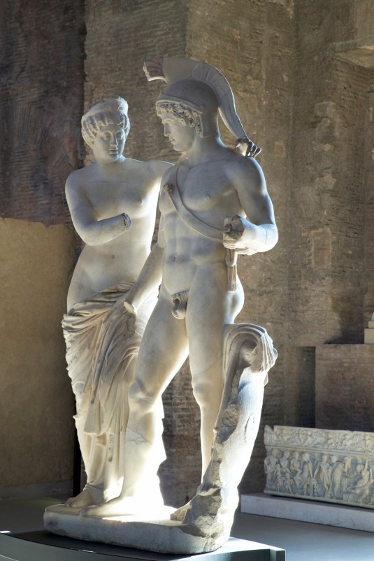 Marble sculpture, Baths of Diocletian, National Museum of Rome, Italy