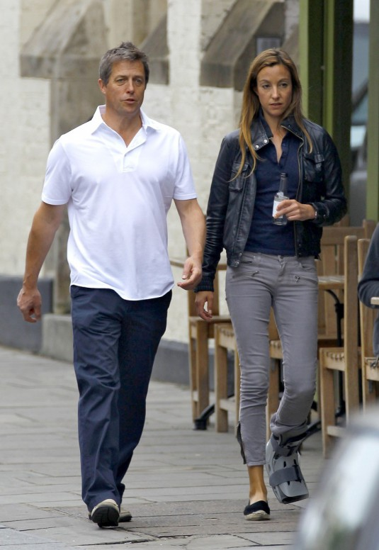 Exclusive: Hugh Grant And Anna Elisabet Eberstein Spotted Out Shopping In Notting Hill