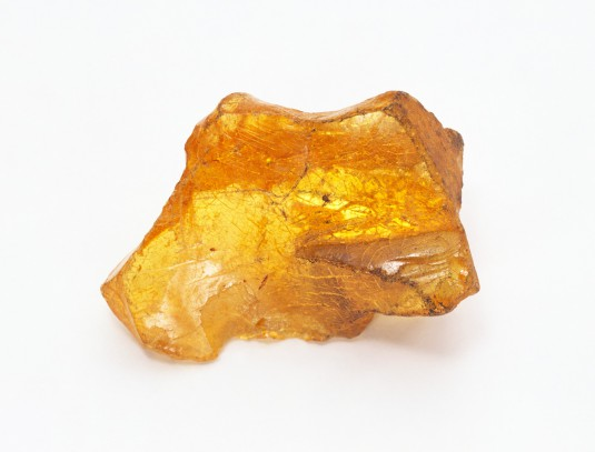 Translucent golden copal nugget