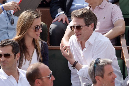 Hugh Grant and girlfriend Attend Roland Garros Open - Paris