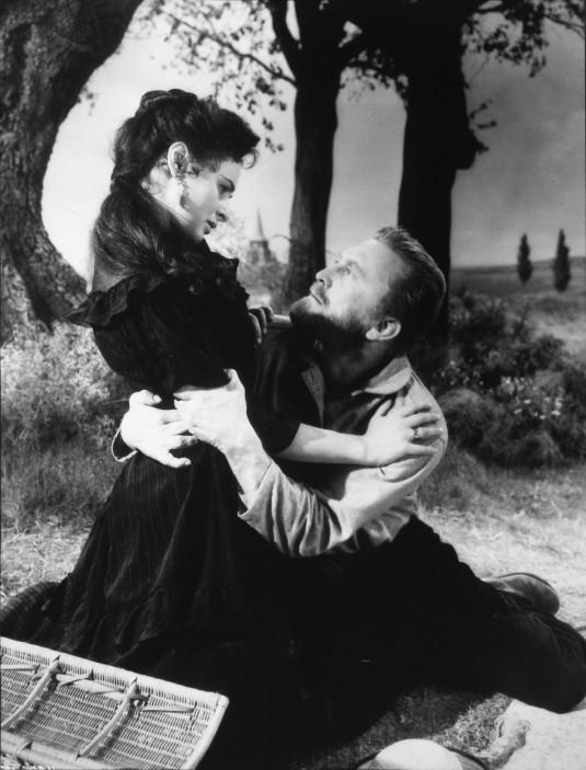 Kirk Douglas, Pamela Brown, on-set of the Film ''Lust for Life'', 1956