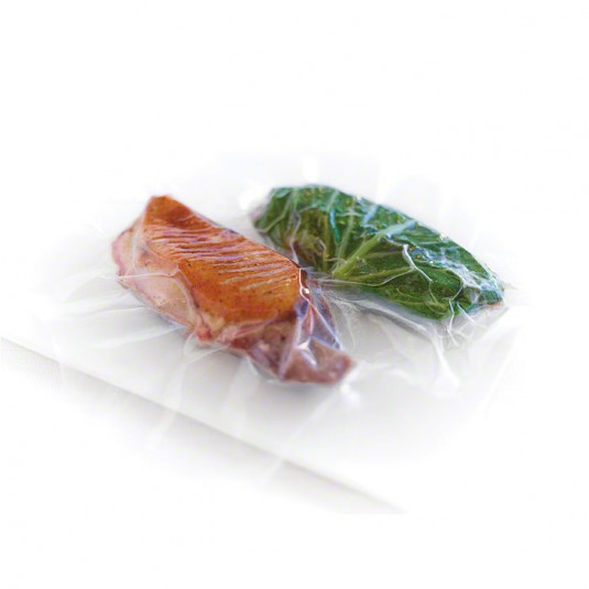 Raw duck and cabbage in vacuum bag
