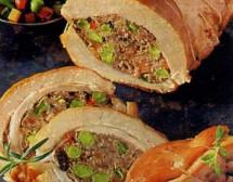 Пълнени телешки гърди със зеленчуци