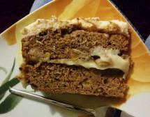 Бананова торта с ром и баварски крем