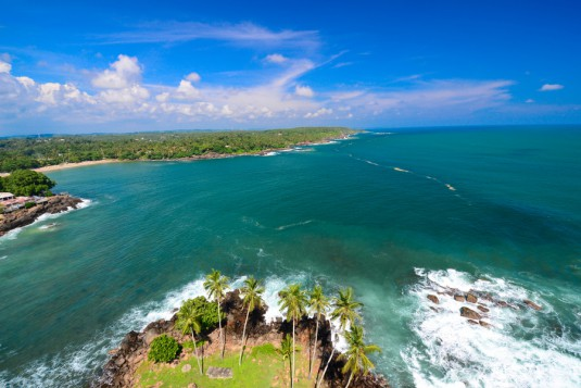 Beautiful ocean in Sri Lanka