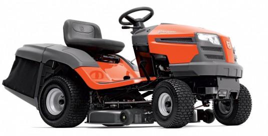 Градинският трактор HUSQVARNA 138 предлага ширина на косене 97 см с височина 38-102 мм. Mетодът на косене е събиране.