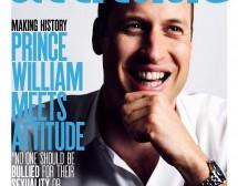 Принц Уилям на корицата на гей списание