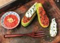 Пълнени тиквички с риба тон и зеленчуци