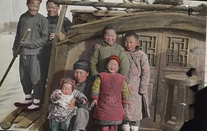 Canton, China -- Family on Houseboat (2)