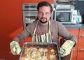 Мъже готвят. Есетра със спанак на фурна