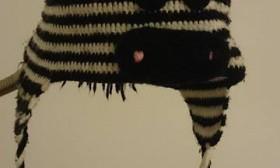 Шапка-зебра