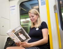 """Значка """"Бебе на борда"""" за бременните в метрото"""