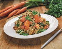 Салата от просо с печени моркови