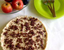 Торта с ябълки и бисквити