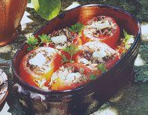 Пълнени домати с гъби на фурна