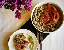 Агнешко с ориз и зелен лук