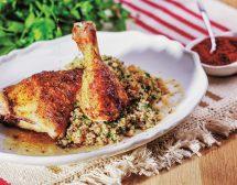 Пиле по марокански с киноа