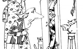 Мъж в гардероба