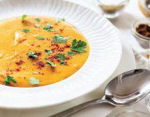 Крем супа от сладък картоф и червена леща