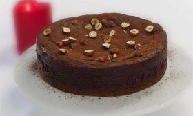 Шоколадово-лешников чийзкейк