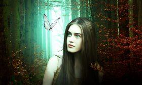 Момичето и пеперудата
