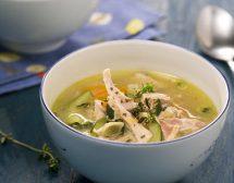 Пилешка супа с тиквички