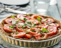 Тарт с домати, патладжани и извара
