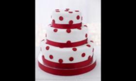 "Триетажна торта ""Червено кадифе"""