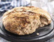 Хляб без месене със семена