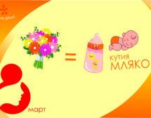 Адаптирано мляко вместо цветя за 8 март