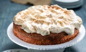 Шоколадов кейк с шапка от маскарпоне