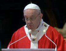 Папа Франциск отслужи онлайн литургия по повод Палмова неделя (видео)