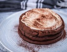Печена шоколадова мус торта