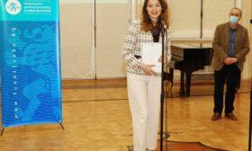 Виктория Василенко е първият кавалер на Националната награда за млад талант