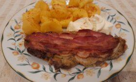 Мъже готвят! Вратни пържоли на фурна с горчица, лук и бекон от Райчо Ангелов