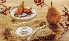 Мус от орехи с карамелизирани круши