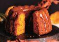 Кейк с тиква и карамелена глазура