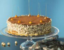 Карамелена мус торта