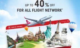 Тurkish Airlines с 40% отстъпка за международните си полети