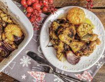 Печени пилешки бутчета по тоскански