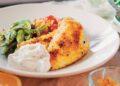 Ципура с хрупкава коричка, чесново едамаме и медени чери домати