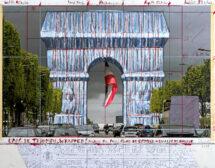 Опаковат Триумфалната арка в Париж по проект на Кристо